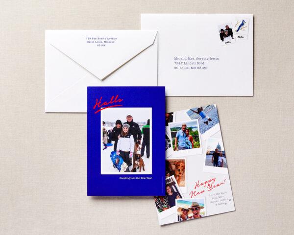 polaroid look holiday card