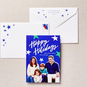 stars holiday card