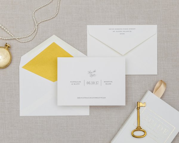 segmented type simple save the date