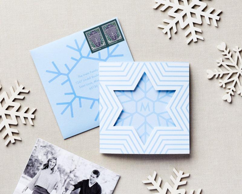 dimensional snowflake holiday hanukkah card