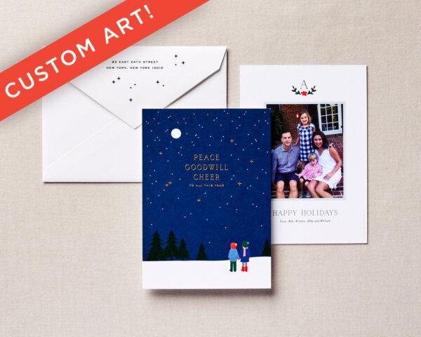 custom art holiday card