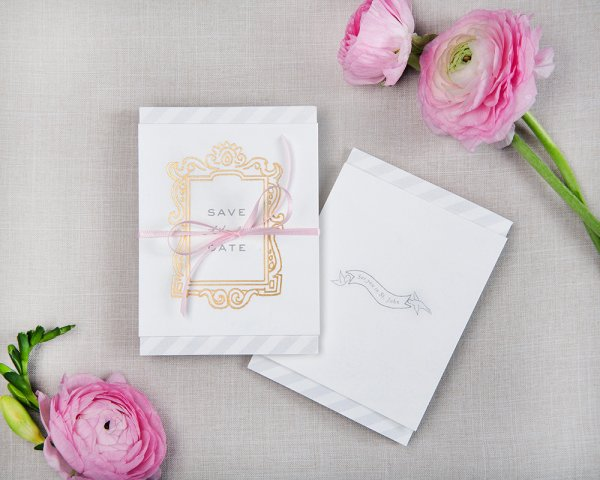 story unfolds hand tied wedding save the date
