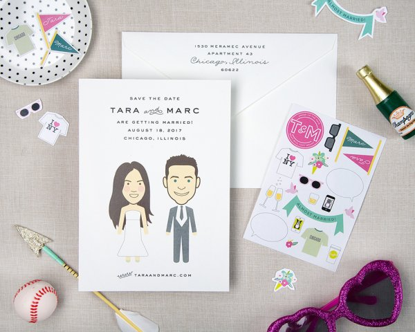 love you a latte wedding save the date