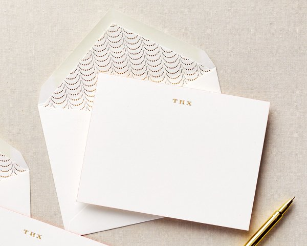 THX gold foil stationery