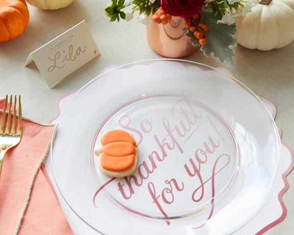 thanksgiving foil placecard