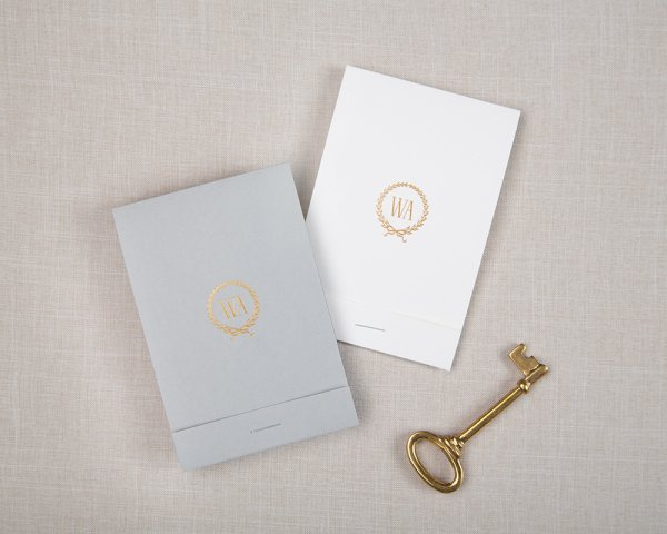 wedding save the date gold foil monogram
