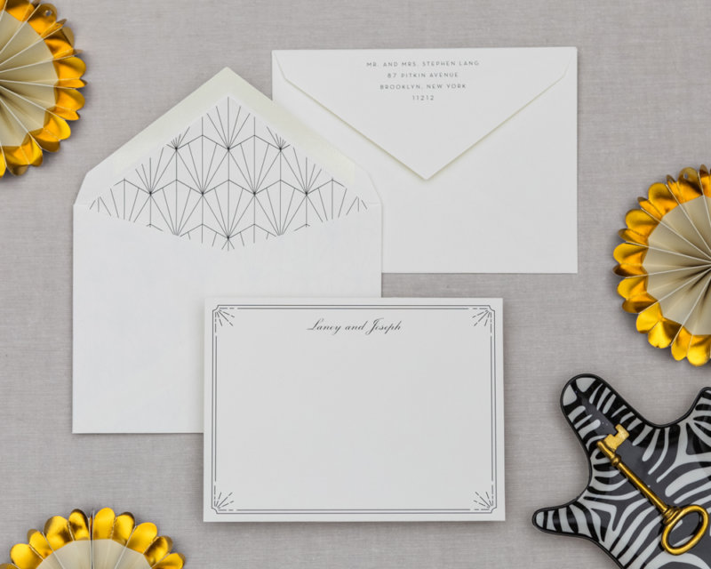 the shimmy personalized stationery