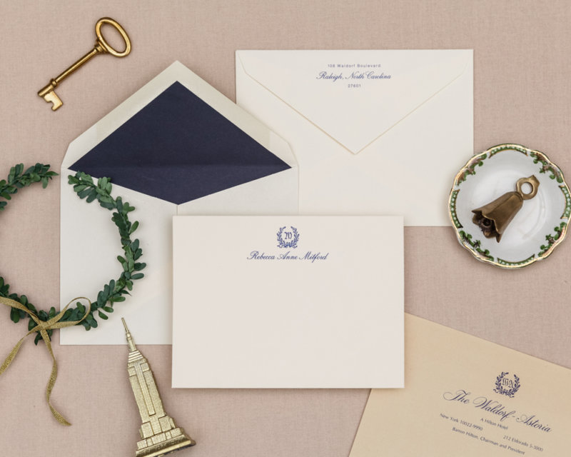 the waldorf-astoria personalized stationery