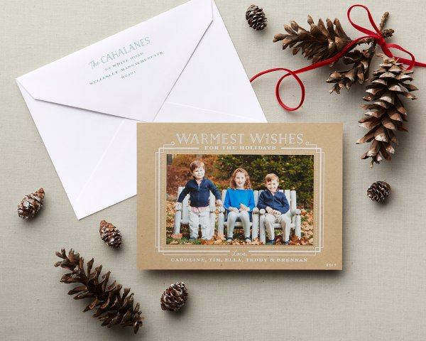 well krafted wishes rustic holiday card