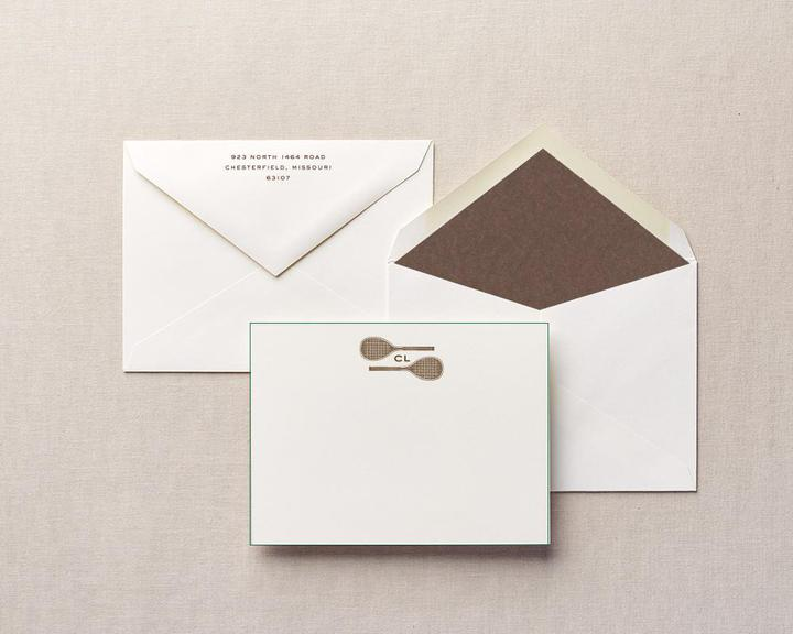 with love personalized tennis stationery
