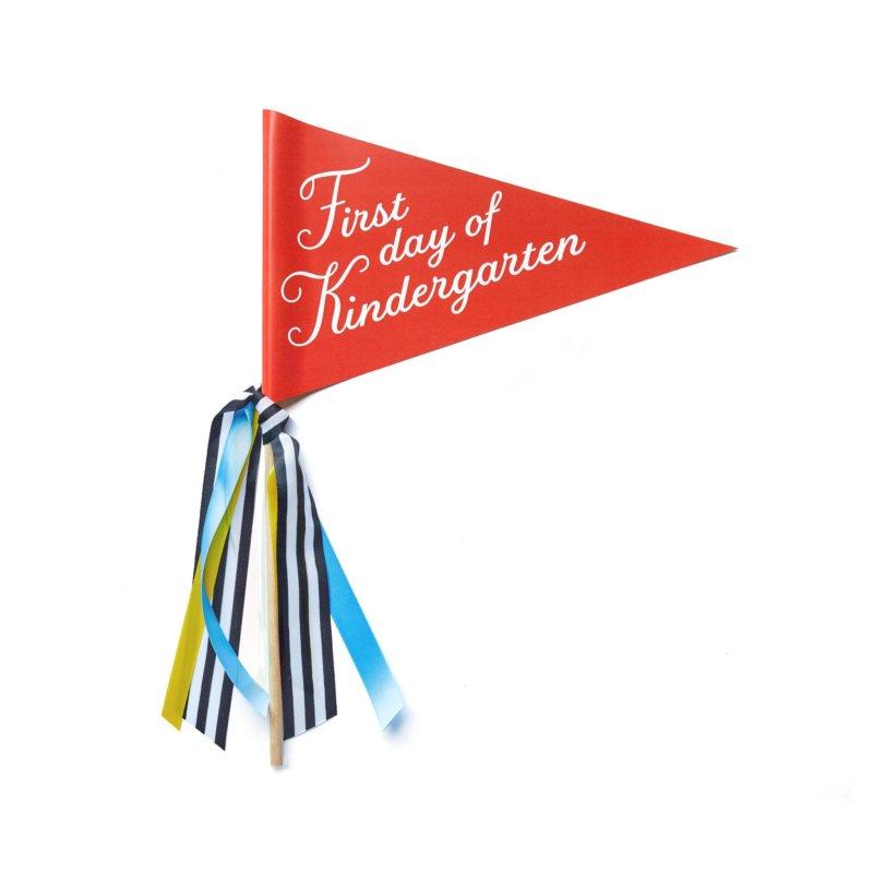 first day of school banner kindergarten
