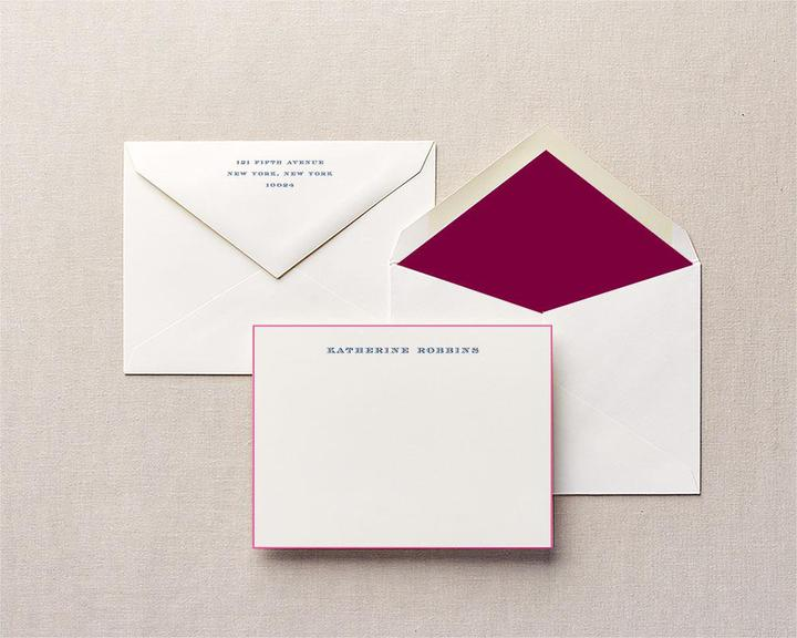 take the helm personalized stationery painted edge