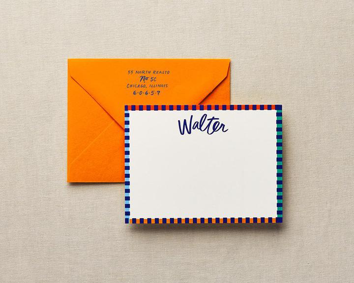 candy stripes personalized stationery