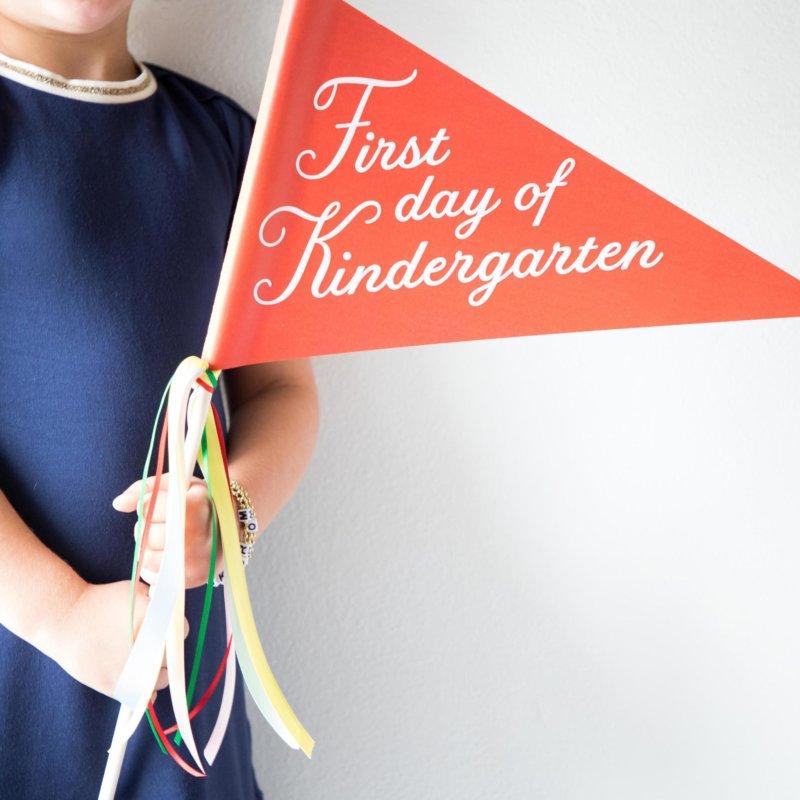 first day of kindergarten first day of school banner