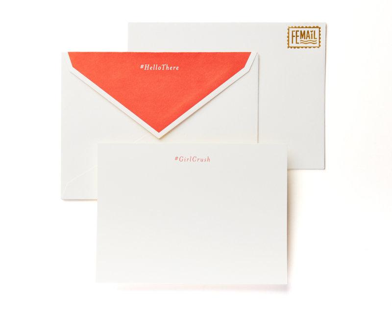 #girlcrush femail boxed stationery set