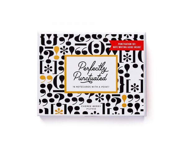 perfectly punctuated boxed set stationery