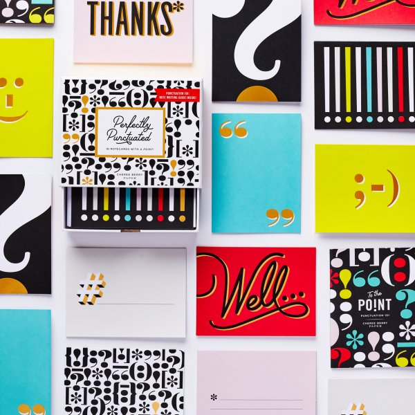 perfectly punctuated boxed set foil stamping