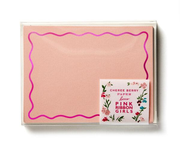 pink ribbon girls stationery boxed set