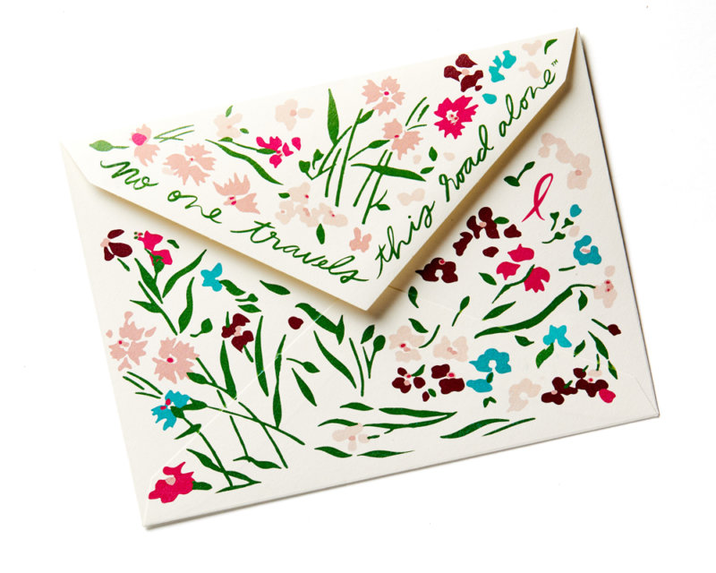 pink ribbon girls stationery envelope